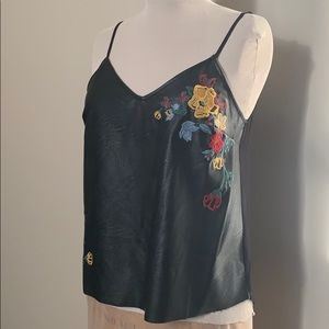 Faux Leather Camisole Top